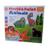Set creativ de modelat si pictat Mould & Paint Animals - Jocuri arta si creatie
