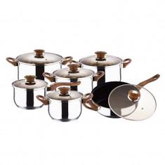 Set oale inox Renberg, 12 piese, 5 straturi - oala, cratita