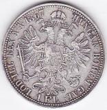 1 Florin Forint Gulden 1867 A Austria Ungaria argint 12,3 gr. moneda RARA, Europa