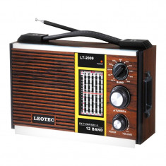 Radio portabil Leotec LT-2009, 12 benzi - Aparat radio