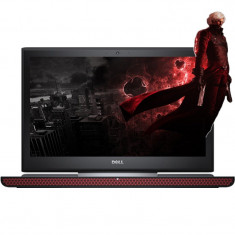 Laptop DELL 15.6'' Inspiron 7566, FHD, Intel Core i7-6700HQ, 8GB DDR4, 500GB+128GB SSD, GTX 960M 4GB, Win 10 Home, Black