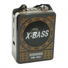 Radio MP3 Waxiba XB-16U, ceas LCD - Radio cu ceas