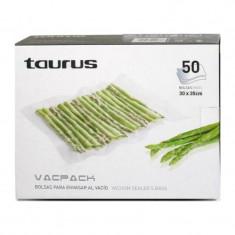Set 50 de pungi gofrate pentru vidare Vacpack, 30 x 35 cm - Folie si punga alimentara Taurus