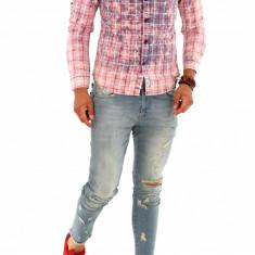 Camasa - camasa barbati - camasa slim - camasa fashion - cod 8795, Marime: S, M, L, XL, XXL, Culoare: Din imagine, Maneca lunga