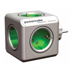 Fisa multipriza PowerCube Allocacoc, 5 prize, Verde/Gri - Fise bujii