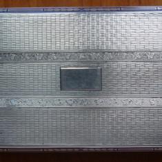 Tabachera din argint, emailata, interbelica ; 153 grame