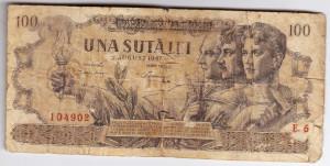 Bancnota 100 lei 1947  27 august rara