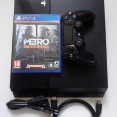 Consola Sony PS4 Playstation 4 Black 500Gb impecabil DVD Blu-Ray Metro Redux