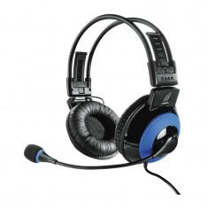Casti gaming uRage Vibra Hama, Albastru/Negru - Casca PC, USB