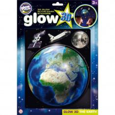 Stickere 3D, Planeta Pamant, Glowstars Company, 3 ani