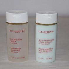 Pachet Clarins format din Gel de Dus + Balsam de Par - Tratament par