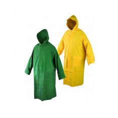Pelerina de ploaie stil poncho, lungime 120 cm, Galben