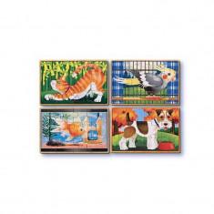 Set 4 puzzle animale de companie
