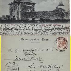 Manastirea armeneasca Zamca Suceava - (Bucovina)-clasica 1898, rara - Carte Postala Bucovina pana la 1904, Circulata, Printata