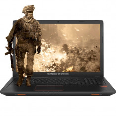 Laptop ASUS Gaming 17.3 ROG GL753VD, FHD, Procesor Intel® Core™ i7-7700HQ, 8GB DDR4, 1TB, GeForce GTX 1050 4GB, Endless OS