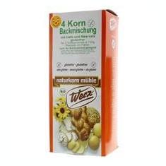 Amestec de Faina din 4 Cereale Integrale Ecologice cu Drojdie Fara Gluten Pronat 1kg Cod: WZ1634 - Cereala