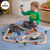 Trenulet din lemn Bucket Top Mountain cu set de accesorii - Kidkraft, Seturi complete