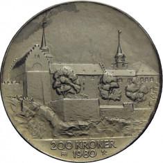 Norvegia - 200 Kronor 1980 - 26.8 gr Argint .625 - Olav V - Ed Comemorativa, Europa, An: 1988