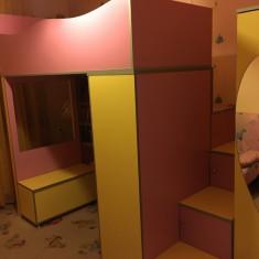 Dormitor copii fete - Set mobila copii