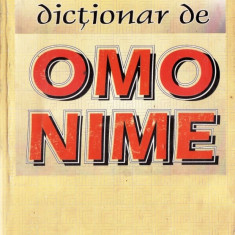 DICTIONAR DE OMONIME de GH. BULGAR - Dictionar sinonime