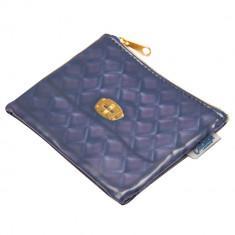 Portofel monede Catseye, 11,5x9 cm, de dama, Bleumarin