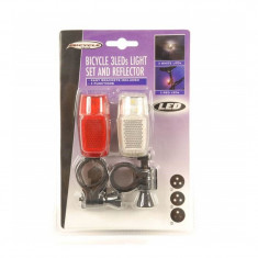Set lumini pentru bicicleta Bicycle, LED, 3 moduri functionare