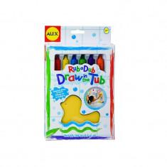 Creioane de baie cu burete Alex Toys