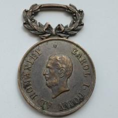 Medalie Romania Virtutea Militara Carol I Domn al Romaniei - Medalii Romania
