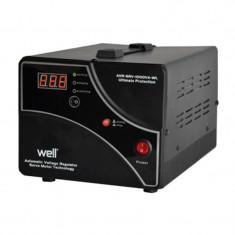 Stabilizator de tensiune cu servomotor Well, 1000 VA - Stabilizator tensiune