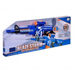 Lansator sageti Blaze Storm, 73 cm, sageti spuma - Pistol de jucarie