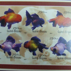 GUINE-BISSAU, PESTI DE ACVARIU, 1 M/SH NEOBLIT., NEDANTELAT 2001 - G BIS 2, Fauna