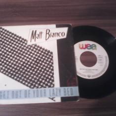 DISC VINIL MATT BIANCO-GET OUT OF YOUR LAZY BED 1983 DISC WEA STARE EXCELENTA - Muzica Jazz