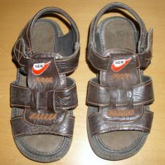 SANDALE pentru baieti - Sandale copii, Marime: 22, Culoare: Maro, Piele sintetica