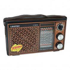 Radio portabil Leotec LT-2015, 12 benzi, curea mana - Aparat radio