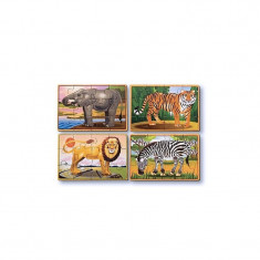 Set 4 puzzle Animale salbatice