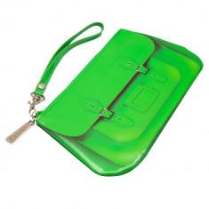 Portofel de mana Catseye, 20 X 11 cm, de dama, Verde - Portofel Dama
