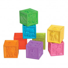 Set 6 cuburi silicon, model animalute