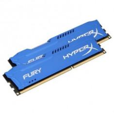 Memorie RAM Kingston 8Gb 2x4gb Desktop HyperX FURY Blue DDR3 - 1600MHz - CL10 - 1.5V, Dual channel
