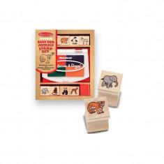 Set de stampile animale salbatice - Jocuri arta si creatie