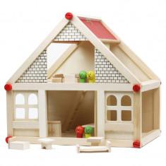 Casuta de asamblat pentru copii, lemn - Casuta copii