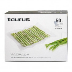 Set 50 de pungi gofrate pentru vidare Vacpack, 20 x 30 cm - Folie si punga alimentara Taurus