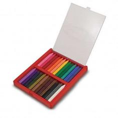 Set 24 creioane colorate triunghiulare - Creion