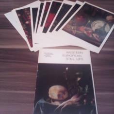 SET CARTI POSTALE MARI PICTURI WESTERN EUROPEAN STILL LIFE 16 BUC.LENINGRAD 1978 - Carte postala tematica, Necirculata, Printata