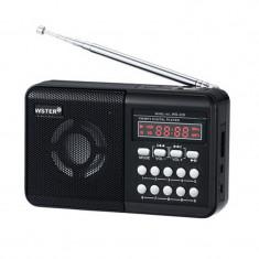 Radio portabil Wster WS-229, LCD, suport Mp3/WMA - Aparat radio