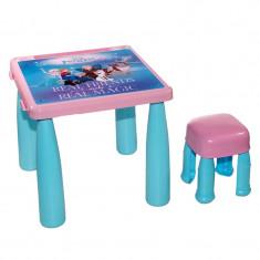 Masuta si scaun pentru copii, 43 x 39 cm, model Frozen
