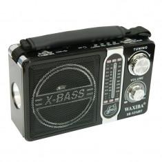Radio portabil Waxiba XB-121URT, 3 benzi, Negru - Aparat radio