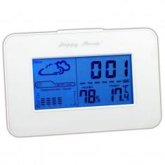 Ceas led cu statie meteo E0303W, alarma si calendar