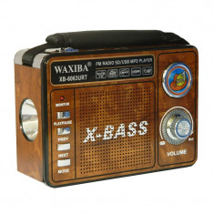 Radio portabil Waxiba XB-6063URT, suport card SD/USB - Aparat radio