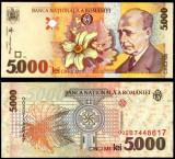 5000 LEI 1998 FILIGRAN MARE OBLIC UNC NECIRCULATA