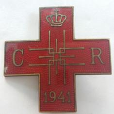 DECORATIE MILITARA ROMANEASCA - CRUCEA - REGINA MAMĂ ELENA - CRUCEA ROȘIE 1941